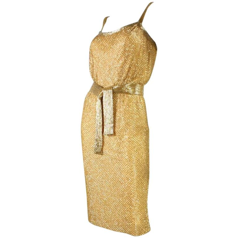 1950's Ceil Chapman Beaded Party Dress