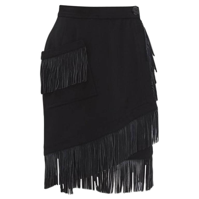 a1c0c1fdc59 Yves Saint Laurent Fringed Wrap Skirt For Sale at 1stdibs