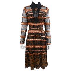 Rodarte Fall 2012 Runway Black and Rust Sequin Dress