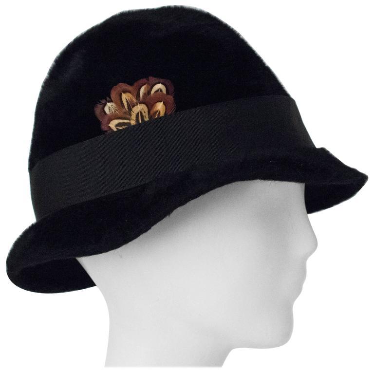 60s Black Adolfo Hat