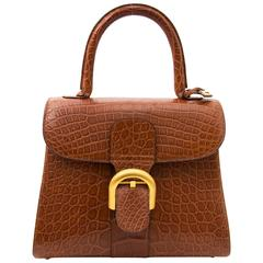 As New Delvaux Brillant Croco matte Miel PM