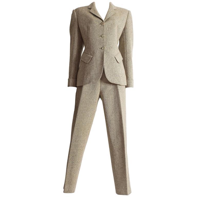 Alaia tweed pant suit, AW 1987
