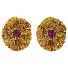 Yves Saint Laurent YSL Vintage Jewelled Clip-On Earrings