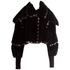 Dolce & Gabbana studded sheared beaver fur cropped jacket, AW 2003