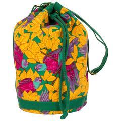 Hermès Yellow Parrots Bucket Bag