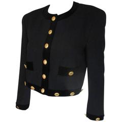 escada couture black wool bolero