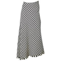 Yohji Yomamoto Houndstooth Plaid Bias Cut Skirt