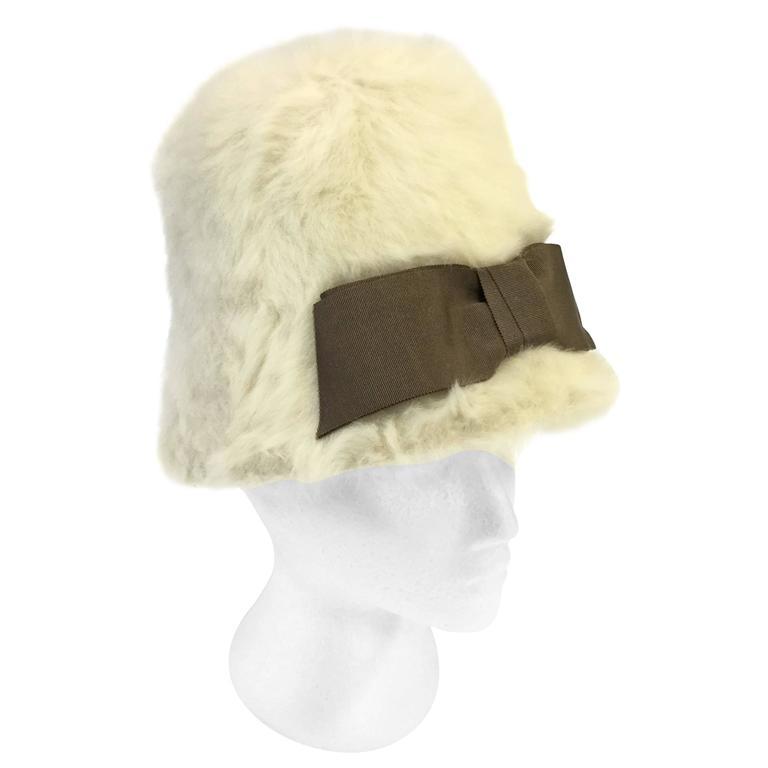 1960s Christian Dior Miss Dior Angora Mod Cloche Hat