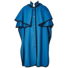 Yves Saint Laurent Peacock Blue Gendarme Cape