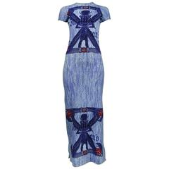 Jean Paul Gaultier Blue Egyptian Dress
