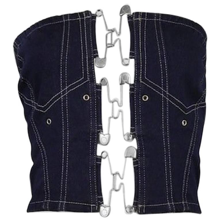 Jean Paul Gaulter Denim Safety Pin Bustier 1