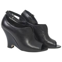 Miu Miu Black Leather Shoes