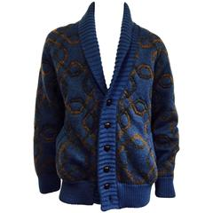 Men's Fabulous Gucci 1970's Heavy Wool/Mohair Shawl  Collar Cardigan