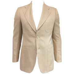 Men's Gucci Refined Elegance Silk/Linen/Camel Hair Jacket