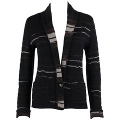 CHANEL A/W 2009 Shawl Collar Button Front Knit Cardigan Sweater Size 40
