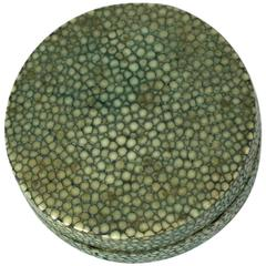 Art Deco Shagreen Compact