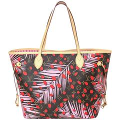 Louis Vuitton NEW '16 Palm Springs Jungle Neverfull MM Tote Bag