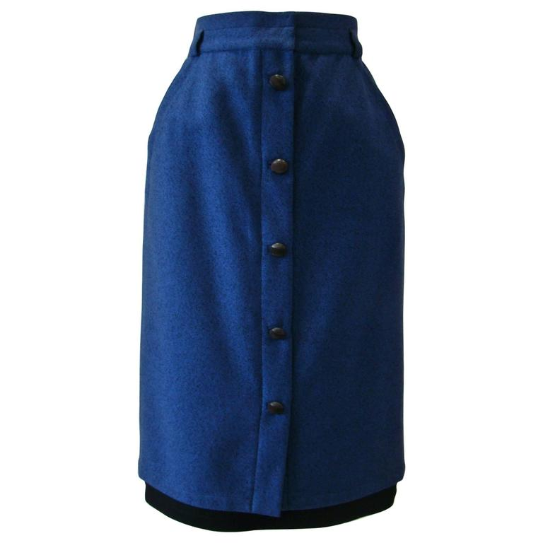 Early Gianni Versace Front Button Detail Skirt