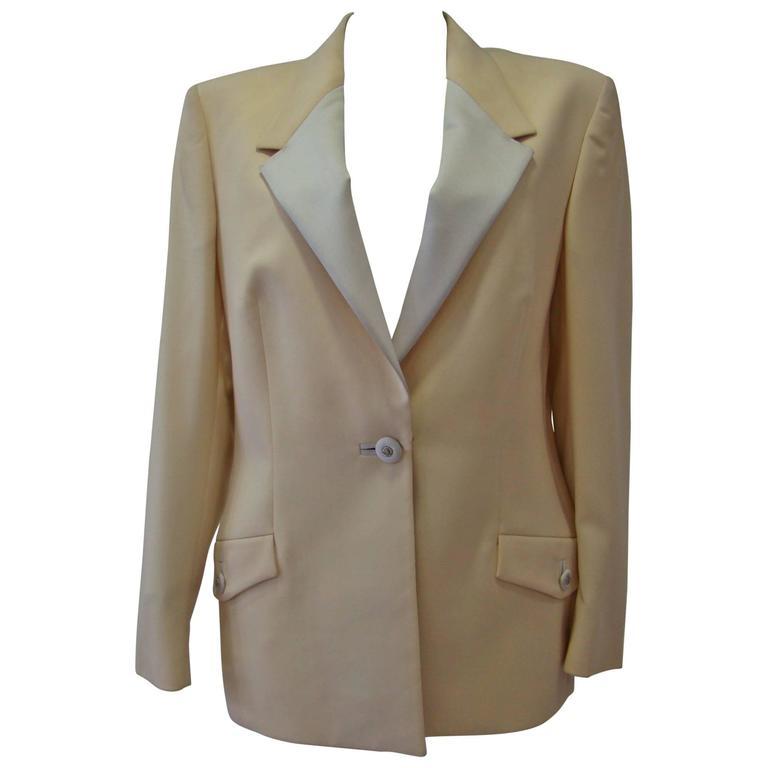 Rare Gianni Versace Couture Tuxedo Jacket Fall 1996