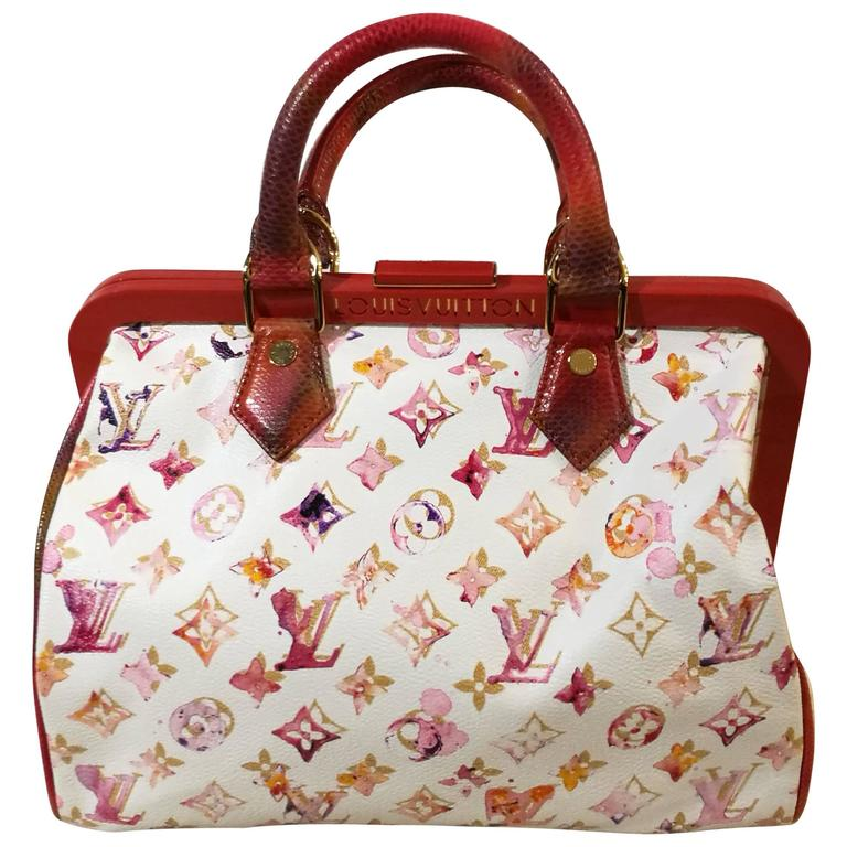 dc066b3b8a5d Louis Vuitton Aquarelle Watercolor Speedy 30 White at 1stdibs