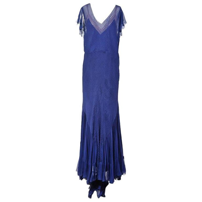 7759c45d7885 Norman Hartnell Chiffon Gown with Slip circa 1940s For Sale at 1stdibs