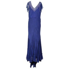 Norman Hartnell Chiffon Gown with Slip circa 1940s