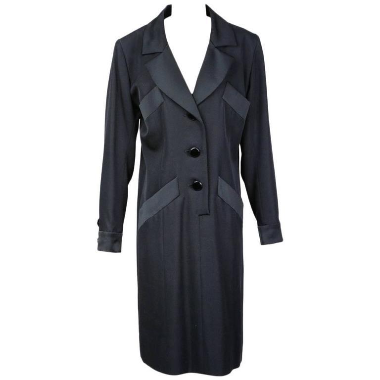 Yves Saint Laurent Tuxedo Dress 1993