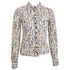 Chanel White Coco Shoes  Lycra Collar Shirt