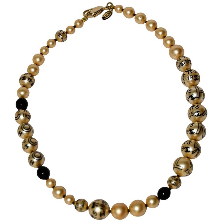 Chanel Faux Pearls Necklace 1