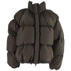 Jean Paul Gaultier Brown Puffer Jacket with Removable Hood - M/L