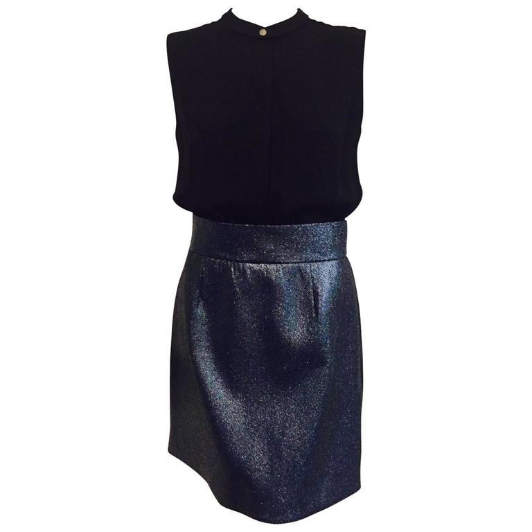 Victoria Victoria Beckham Sleeveless Cocktail Dress With Midnight Glitter Skirt