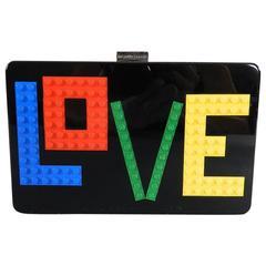 Les Petit Joueurs Andy Rainbow Love LEGO Clutch Evening Bag
