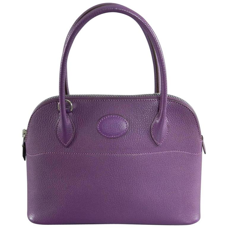 Hermes Violet Bolide 27 cm Bag - handbag with strap 1