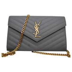Saint Laurent Grey Crossbody Bag