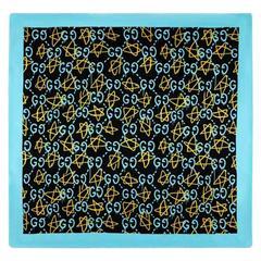 Gucci Ghost Print Blue Modal Silk Shawl