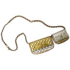 Moschino 80s Gold Chain Adjustable Waist Belt At 1stdibs