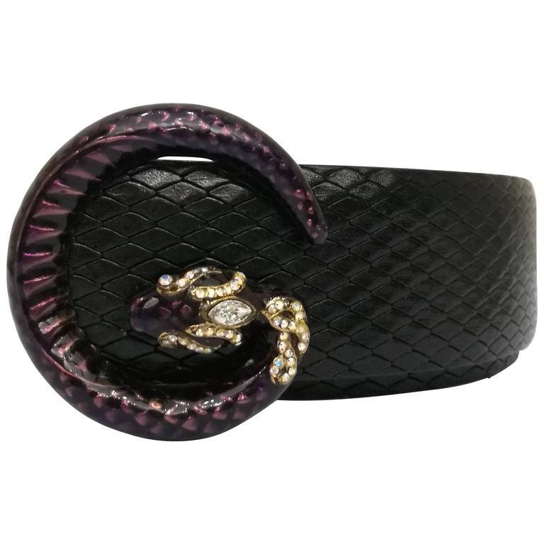 Gucci Black Belt 1