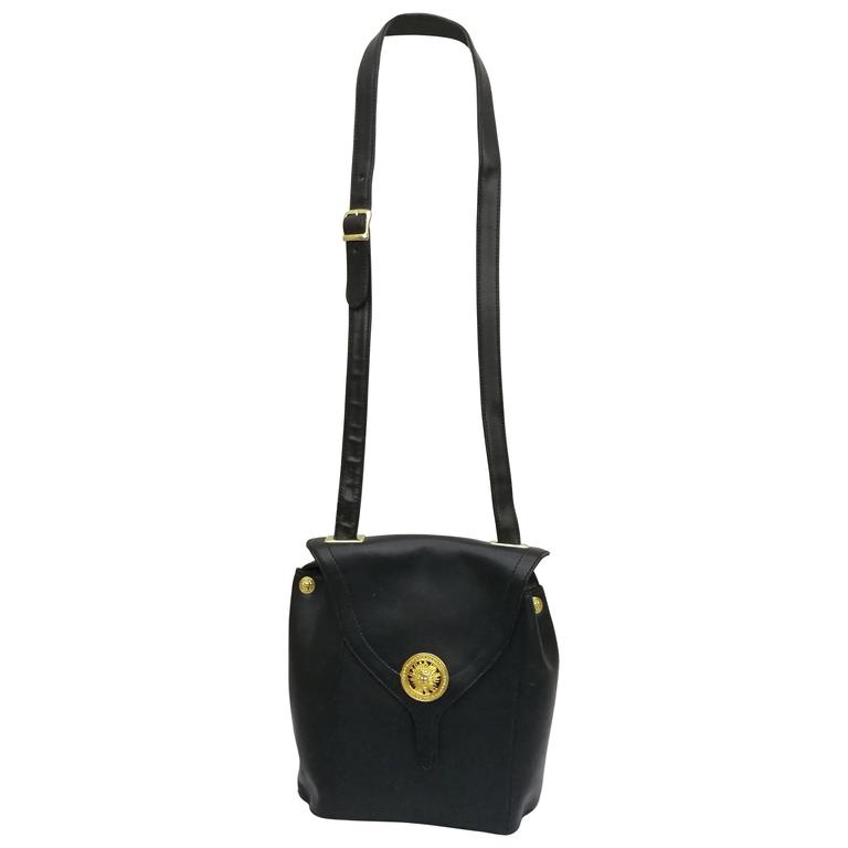 c9fddbeb1fe1 1980s Gianni Versace Black Leather Bag at 1stdibs
