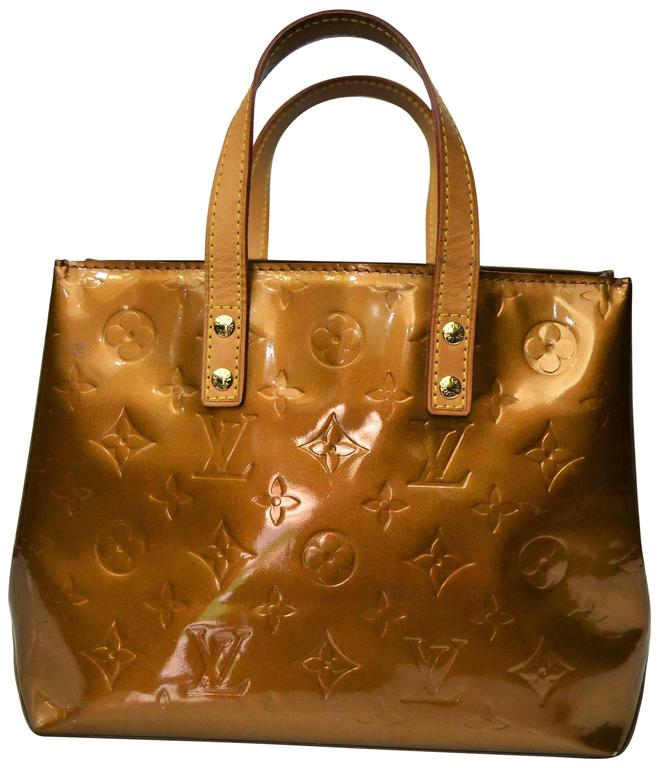 Louis Vuitton Reade Vernis Bronze Leather Bag