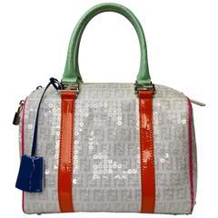 Fendi Forever Multitone Sequins boston Bag