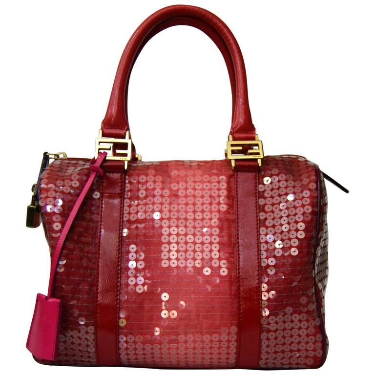 Fendi Forever Sequins Boston Bag