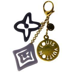 LOUIS VUITTON Tahitienne Bag Charm key Holder Purple