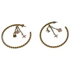 Louis Vuitton 'Sweet Monogram' hoop earrings