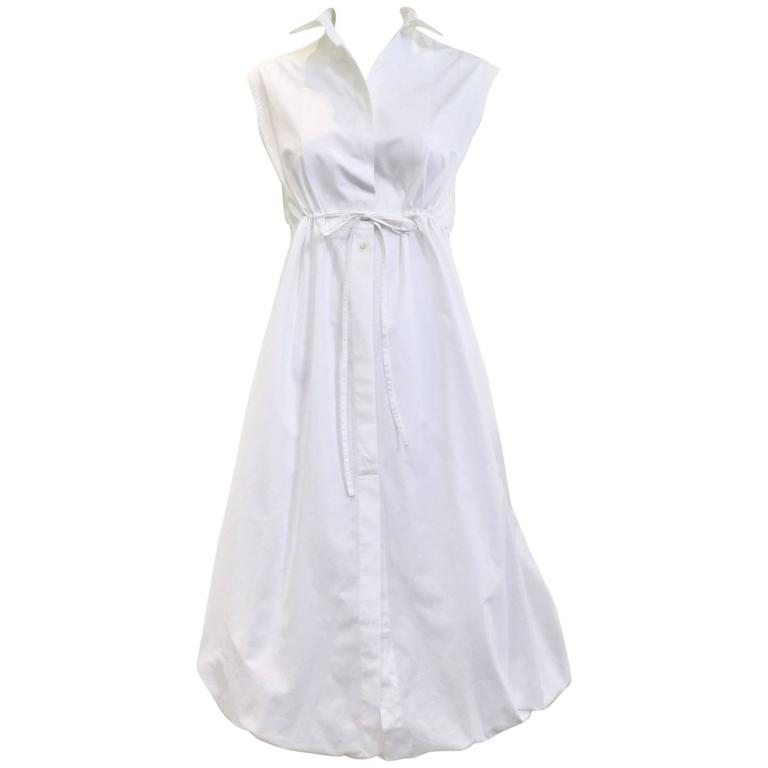 98c30f6d605 ALAIA white cotton summer dress For Sale at 1stdibs