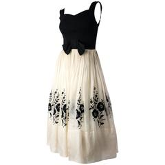 50s Black and White Audrey Dress