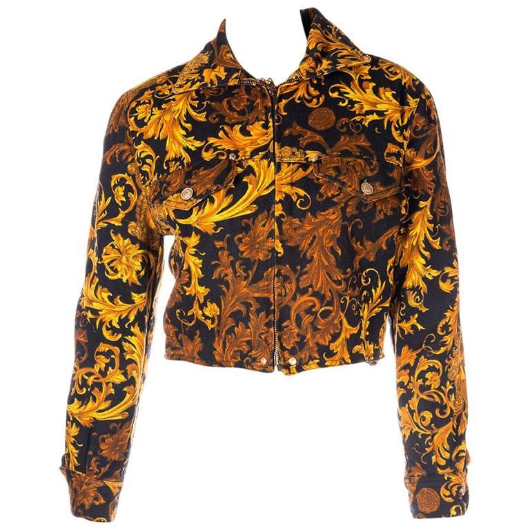 Versace Jeans CoutureBaroque Print Medusa Jacket 1