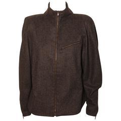 Vintage Claude Montana High-Low, Zip Up Wool Jacket