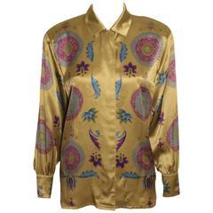 Vintage Escada Jewel Tone Silk Blouse