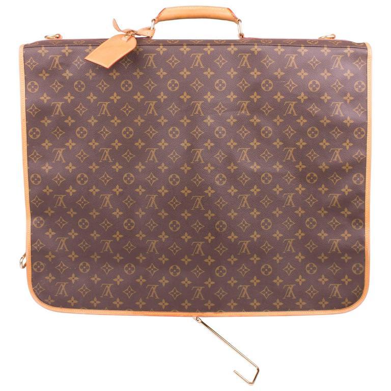 Louis Vuitton Monogram Canvas Portable Bandouliere Garment Suit Travel Bag Bro For