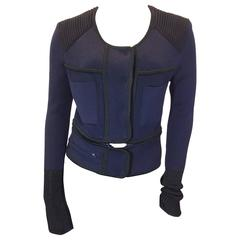 Isabel Marant Navy and Black Cardigan with Removable Piece
